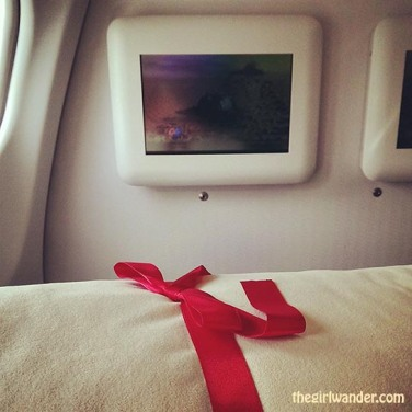 The best things in life don't come with bows on top, but the best things on airplanes do:)