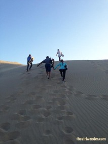 Hauling ass up sand dunes, about as effortless as a 3 hour long elliptical workout. They don't have Ubers out here to take us back to the top, unfortunately.